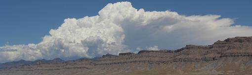 Thunderstorms over the Book Cliffs